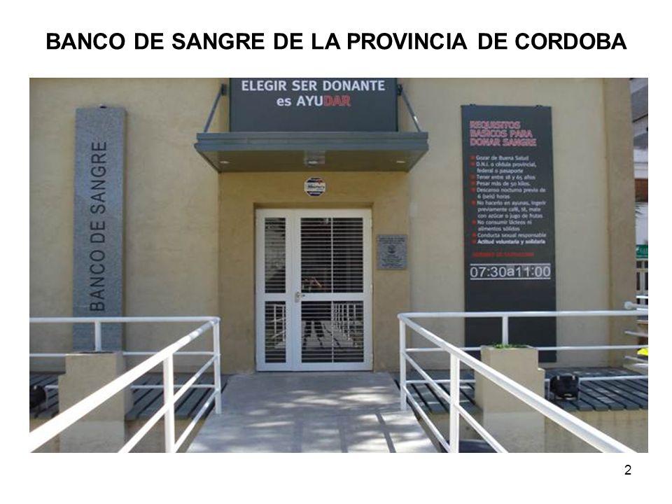 BANCO DE SANGRE DE LA PROVINCIA DE CORDOBA 2