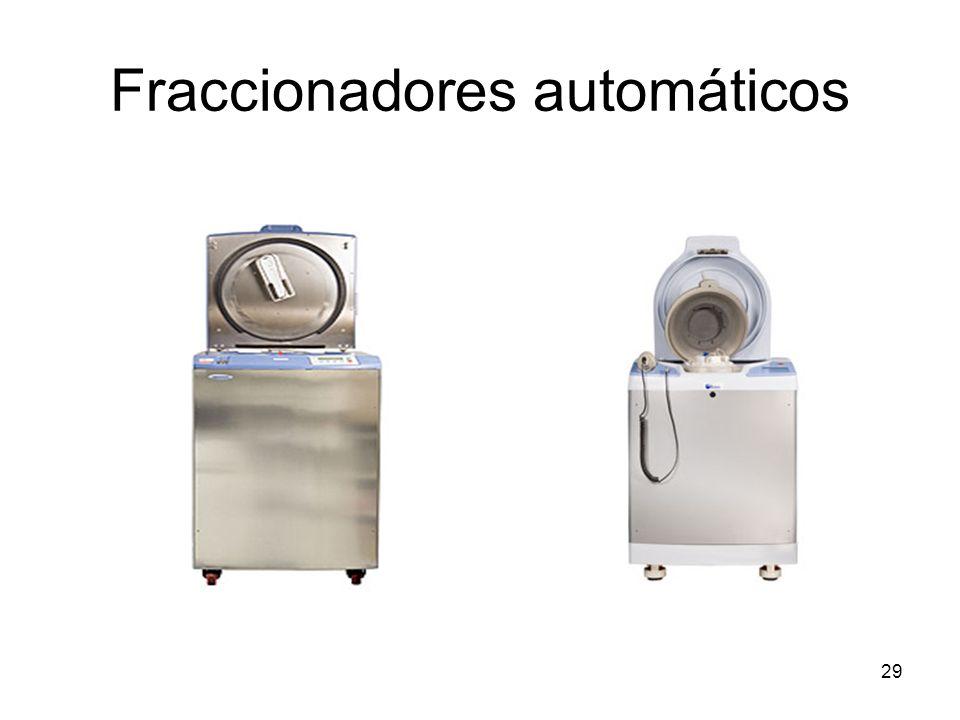 Fraccionadores automáticos 29