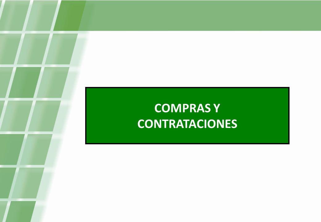 COMPRAS Y CONTRATACIONES