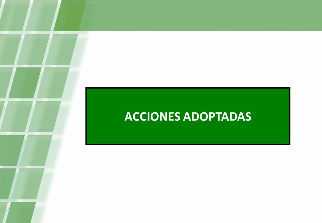 ACCIONES ADOPTADAS