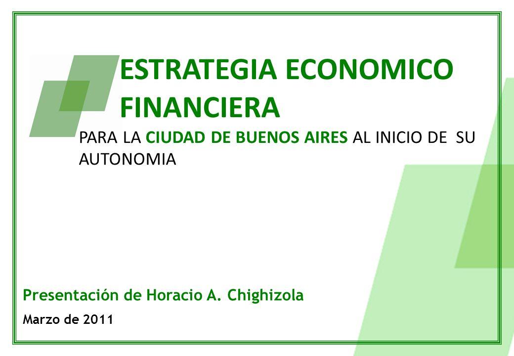 ESTRATEGIA ECONOMICO FINANCIERA PARA LA CIUDAD DE BUENOS AIRES AL INICIO DE SU AUTONOMIA Presentación de Horacio A.