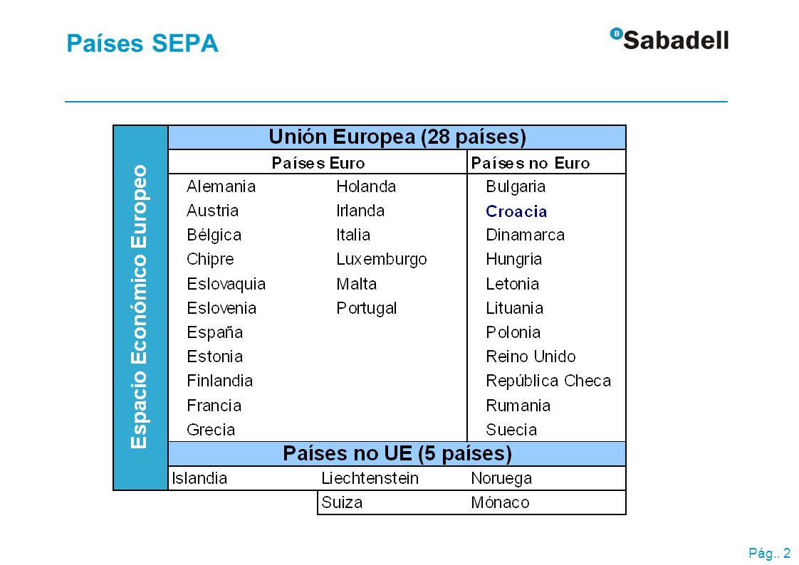 Pág.. 2 Países SEPA