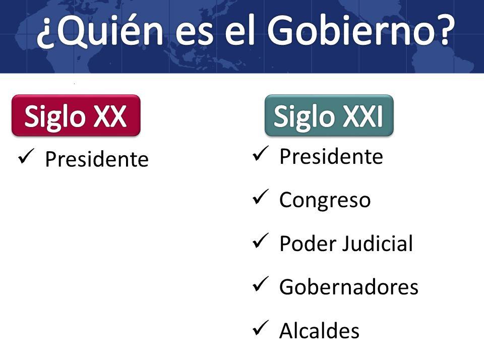 Presidente Congreso Poder Judicial Gobernadores Alcaldes