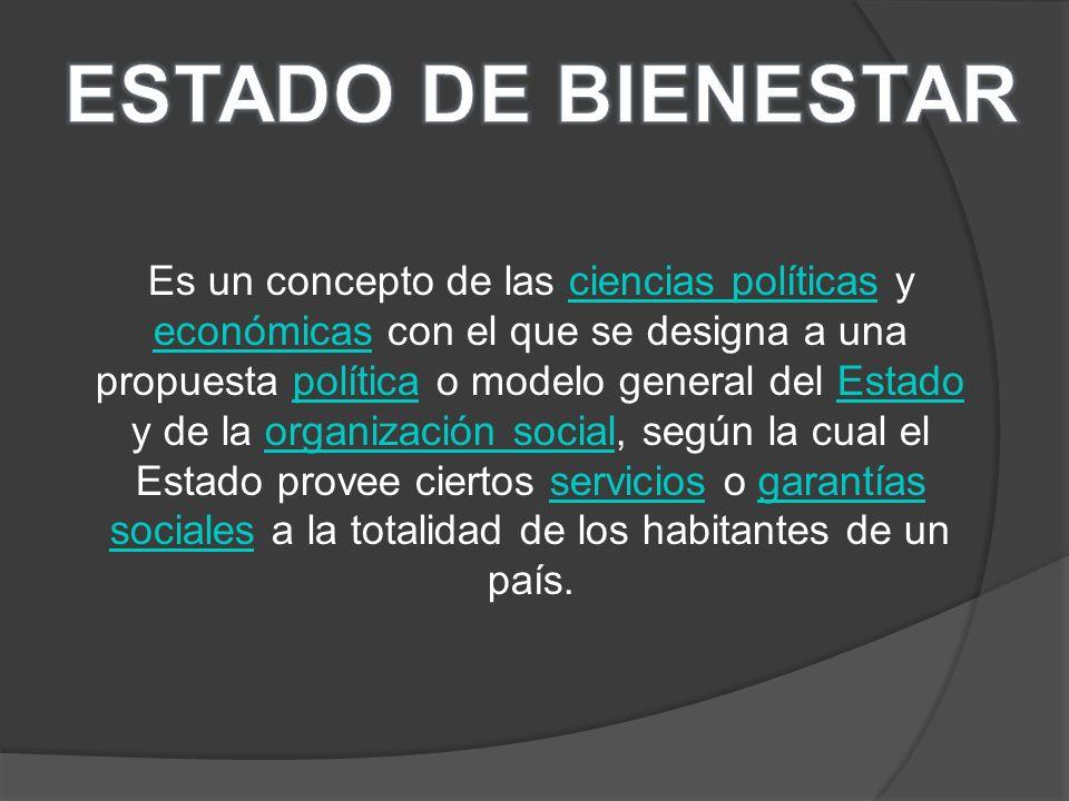Es un concepto de las ciencias políticas y económicas con el que se designa a una propuesta política o modelo general del Estado y de la organización