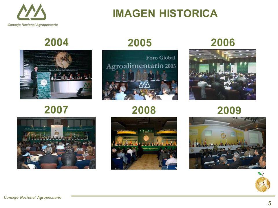 Consejo Nacional Agropecuario 5 IMAGEN HISTORICA 2004 2005 2006 2007 2008 2009