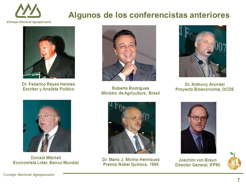 Consejo Nacional Agropecuario 7 Algunos de los conferencistas anteriores Dr.