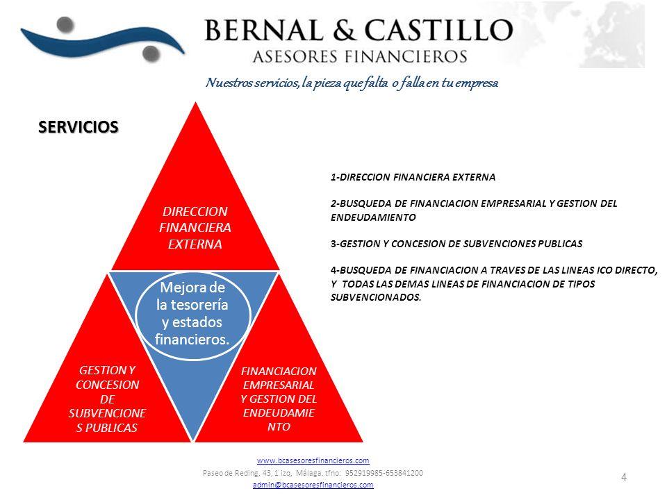 1-DIRECCION FINANCIERA EXTERNA: Seguimiento de las relaciones de la empresa con las entidades financieras, clientes y proveedores optimizando las relaciones para el negocio.