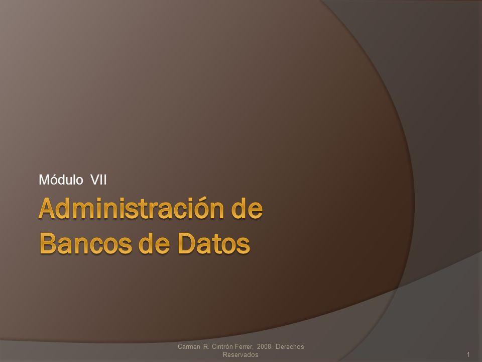 Módulo VII Carmen R. Cintrón Ferrer, 2008, Derechos Reservados1