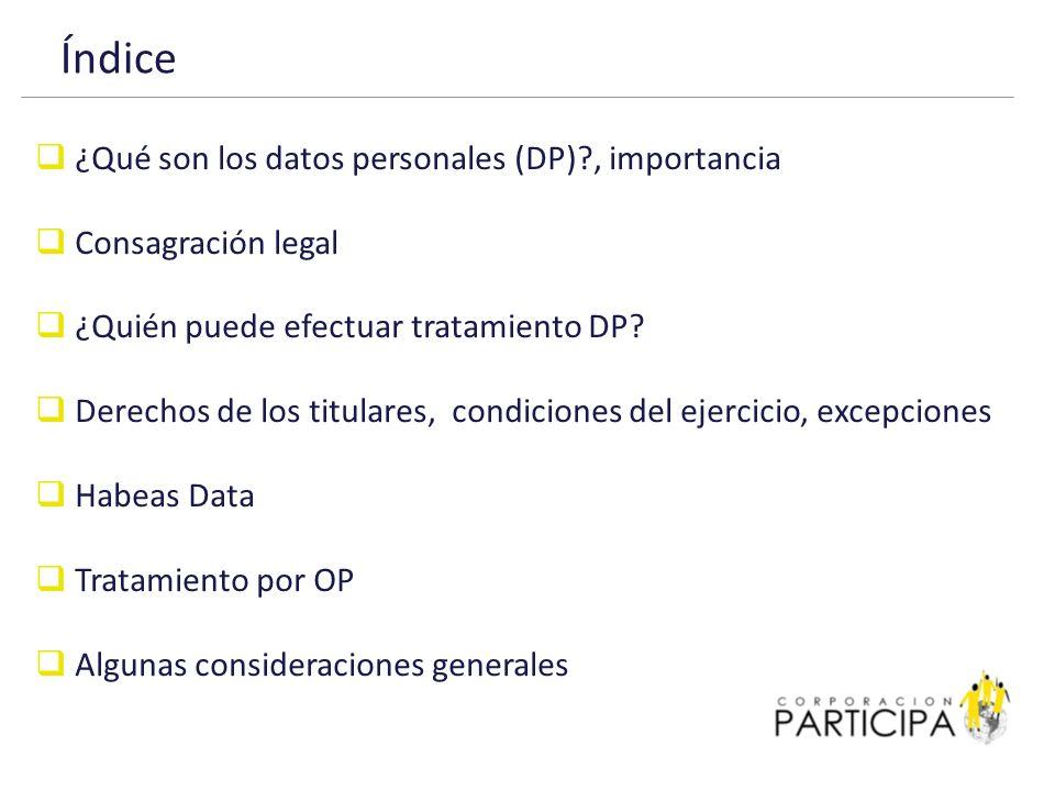 ¿Qué son los datos personales (DP).