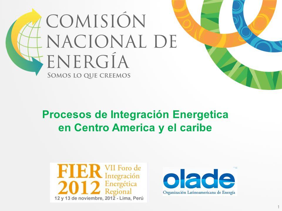 1 Procesos de Integración Energetica en Centro America y el caribe