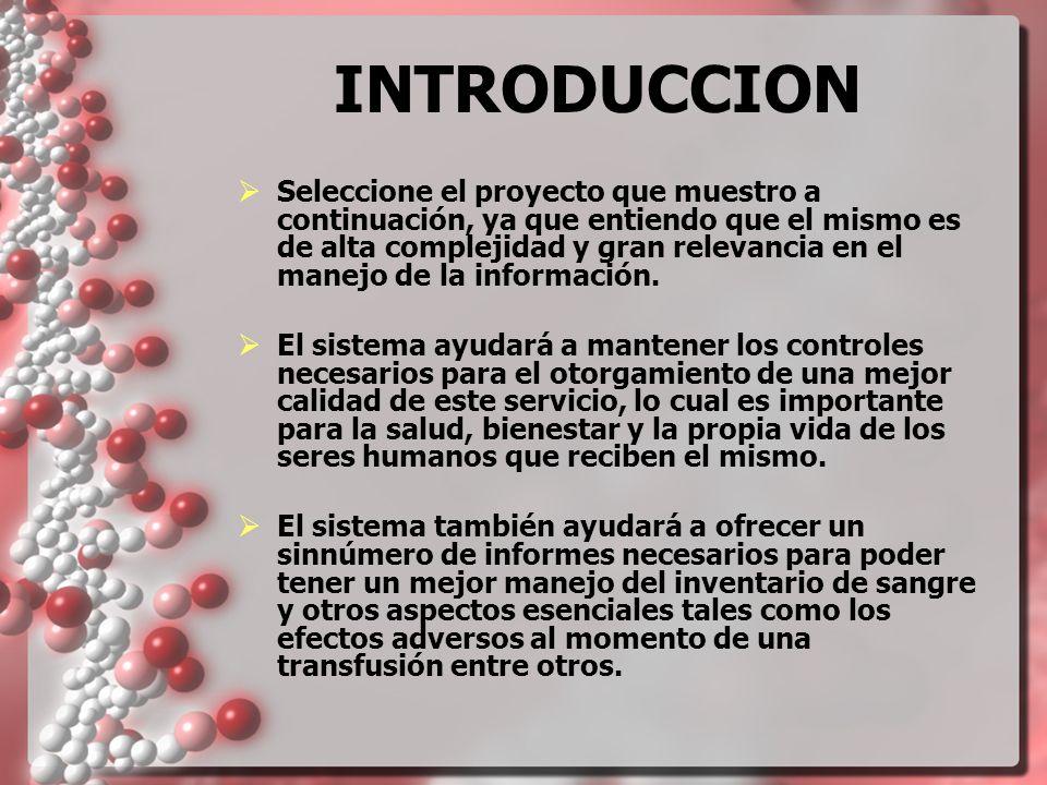 INTRODUCCION Actualmente el proceso es manual, y en el mismo se utilizan diversas libretas y tarjeteros en las cuales se anota información de gran importancia.