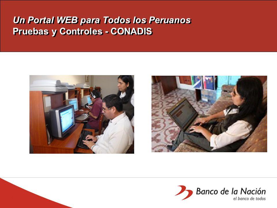 Un Portal WEB para Todos los Peruanos Médidas Adoptadas Contenido y estructuración.