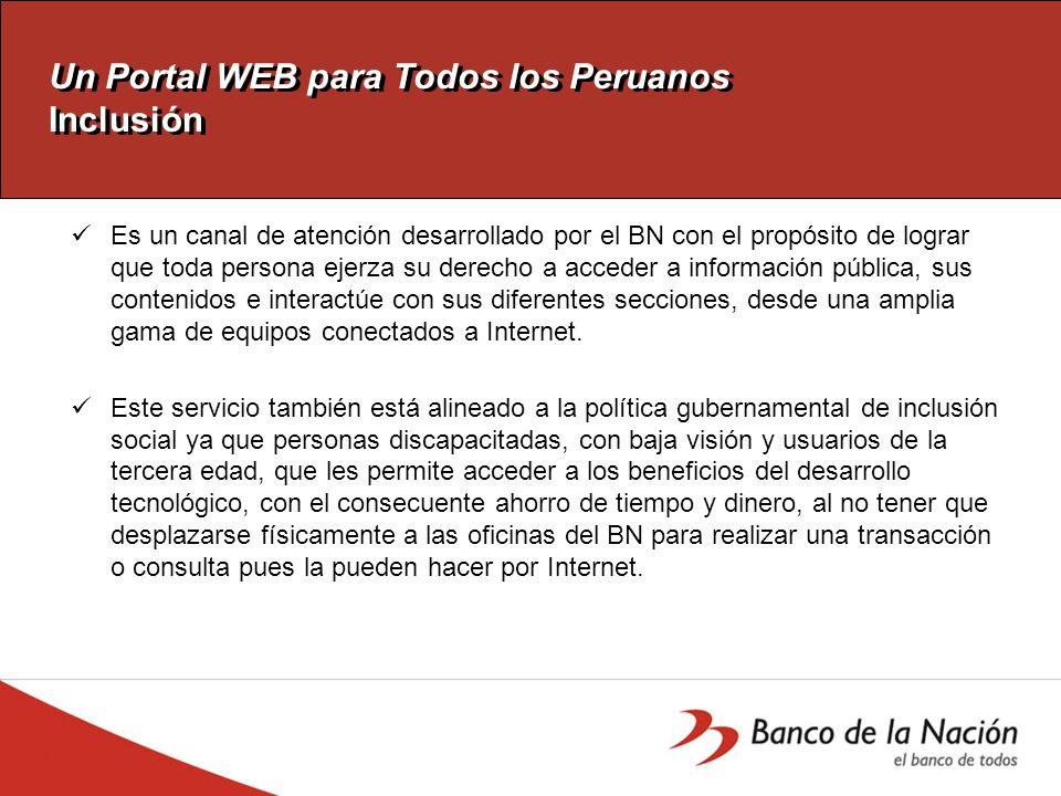 Un Portal WEB para Todos los Peruanos Pruebas y Controles - CONADIS