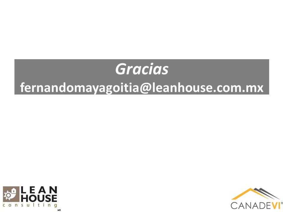 Gracias fernandomayagoitia@leanhouse.com.mx