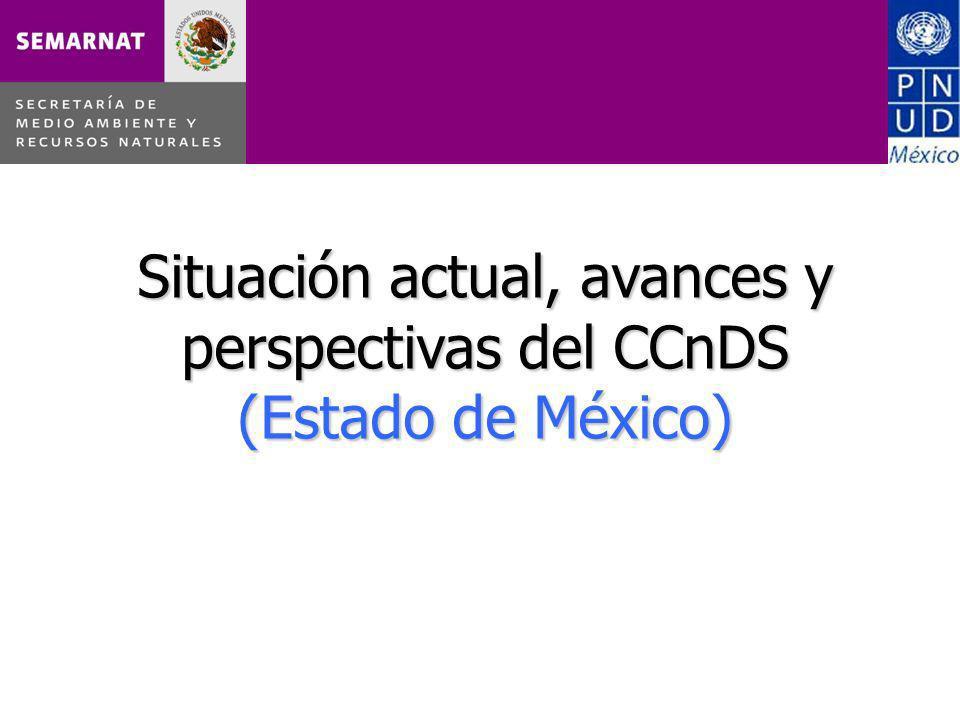 Situación actual, avances y perspectivas del CCnDS (Estado de México)