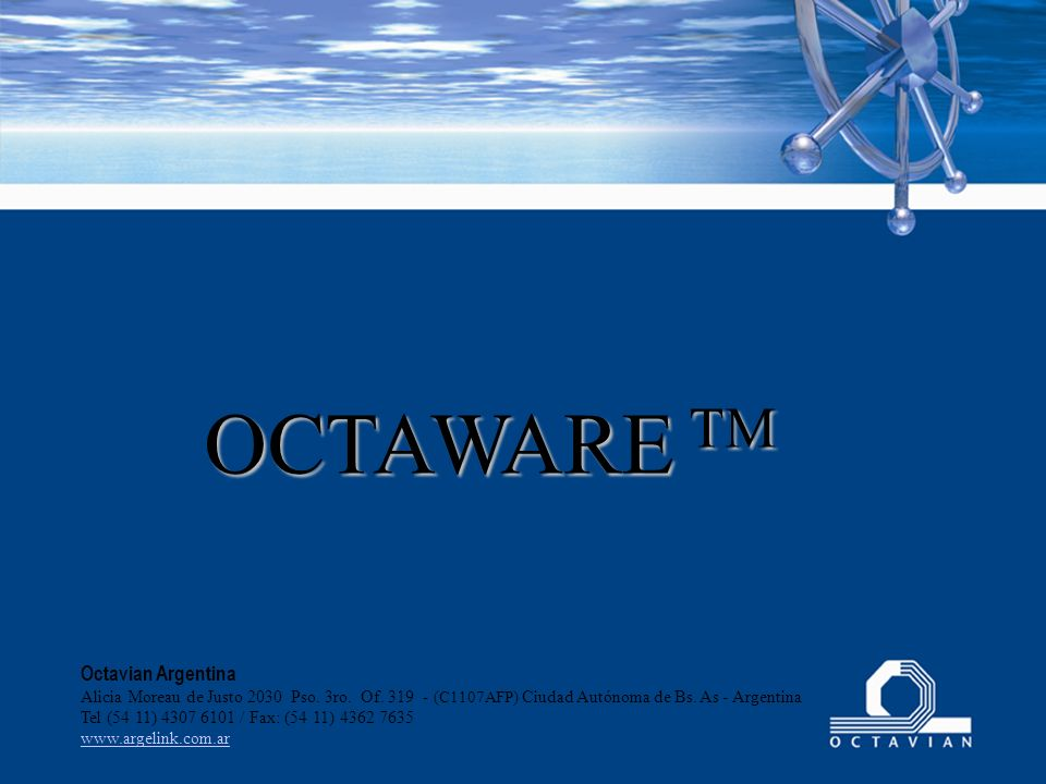 OCTAWARE TM Octavian Argentina Alicia Moreau de Justo 2030 Pso.