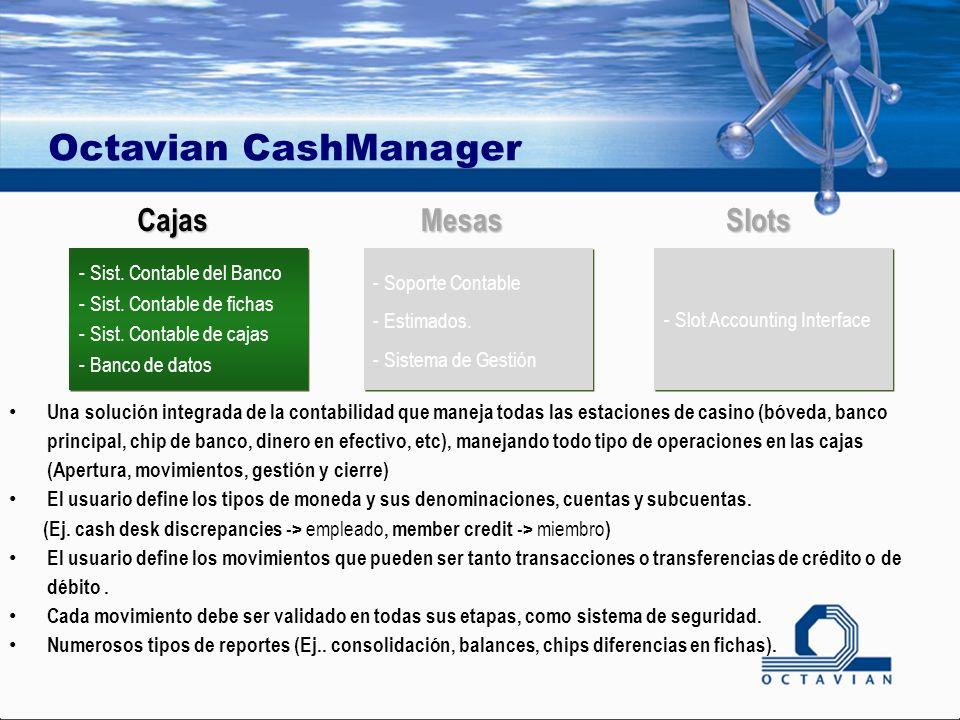 Octavian CashManager - Soporte Contable - Estimados.