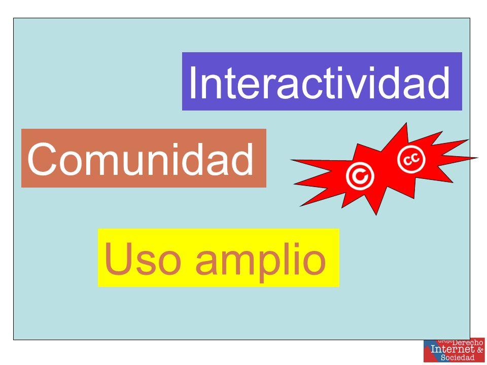 Interactividad Comunidad Uso amplio