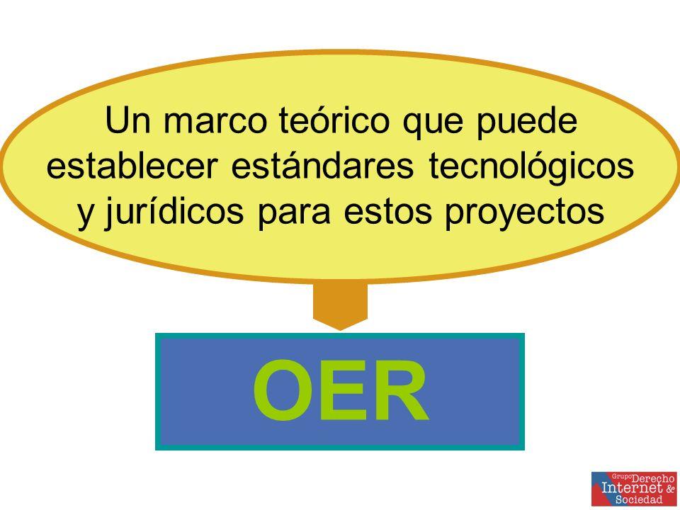 OER Un marco teórico que puede establecer estándares tecnológicos y jurídicos para estos proyectos