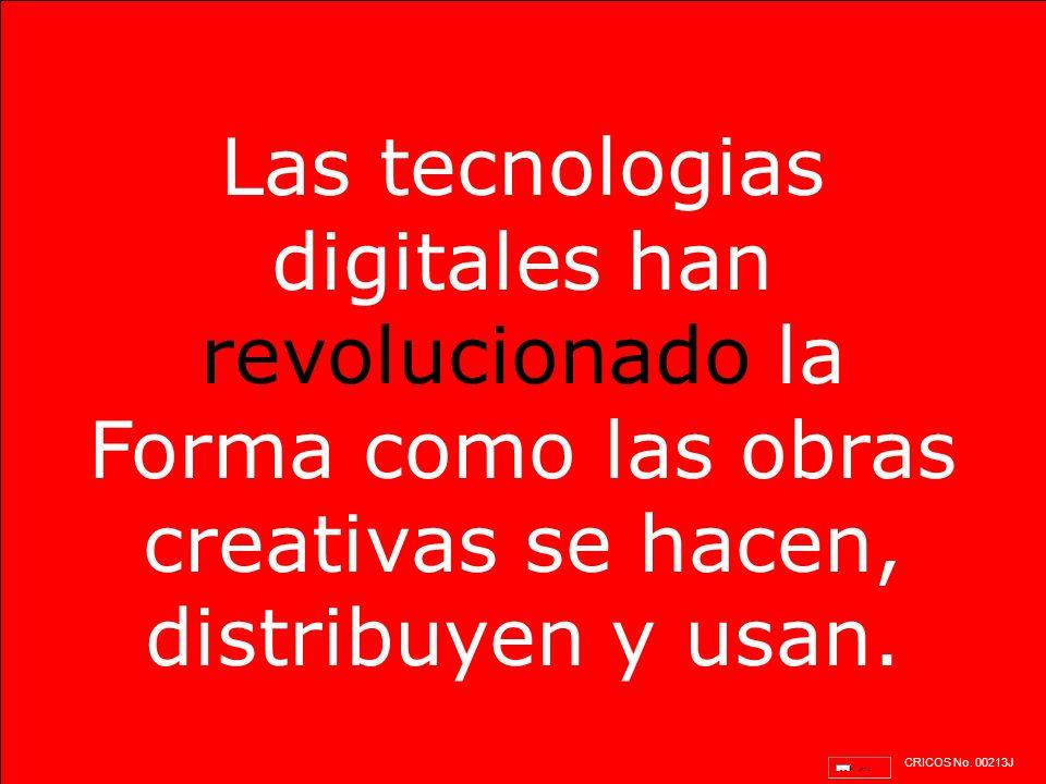 Las tecnologias digitales han revolucionado la Forma como las obras creativas se hacen, distribuyen y usan.