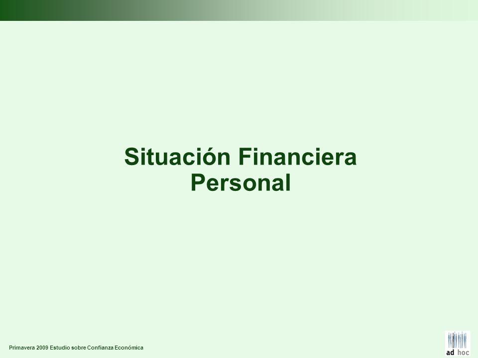Primavera 2009 Estudio sobre Confianza Económica Situación Financiera Personal