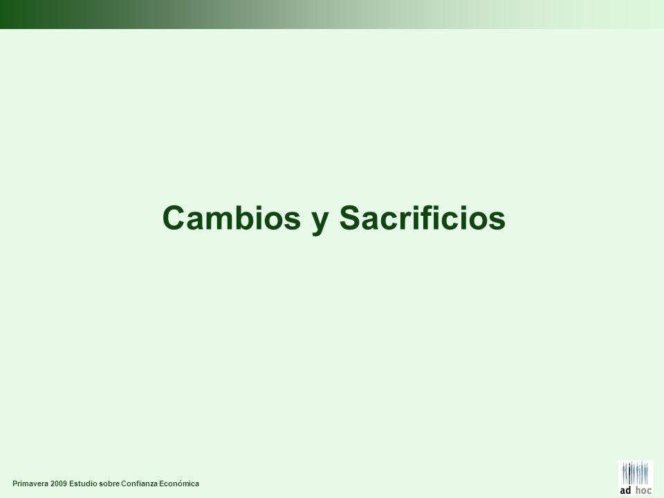 Primavera 2009 Estudio sobre Confianza Económica Cambios y Sacrificios