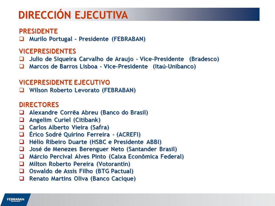 PRESIDENTE Murilo Portugal – Presidente (FEBRABAN) Murilo Portugal – Presidente (FEBRABAN)VICEPRESIDENTES Julio de Siqueira Carvalho de Araujo - Vice-