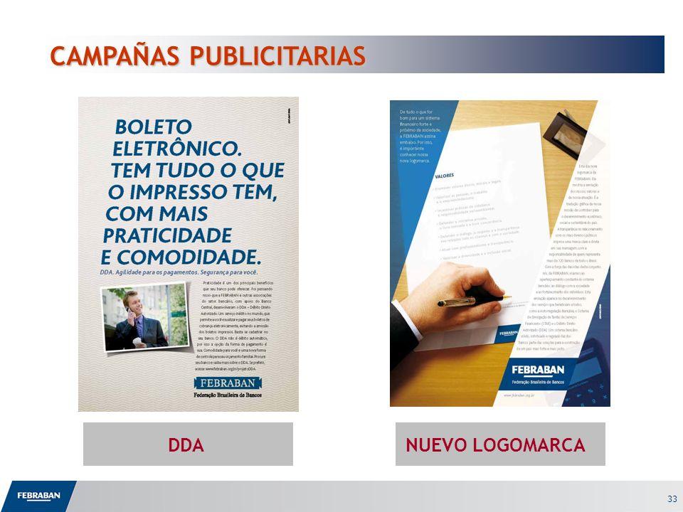 33 CAMPAÑAS PUBLICITARIAS CAMPAÑAS PUBLICITARIAS DDANUEVO LOGOMARCA