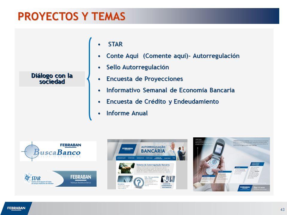 43 PROYECTOS Y TEMAS Diálogo con la sociedad STAR STAR Conte Aqui (Comente aquí)- AutorregulaciónConte Aqui (Comente aquí)- Autorregulación Sello Auto