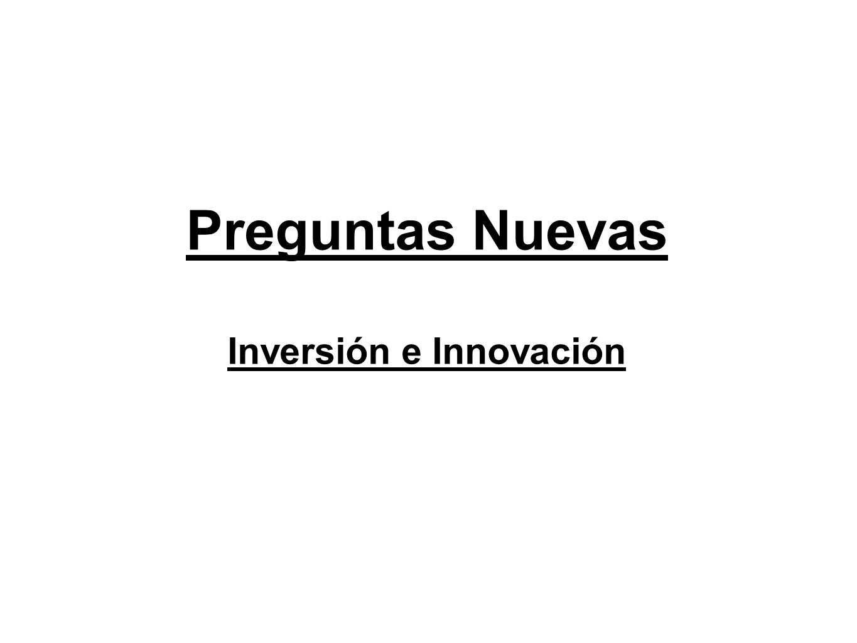 Preguntas Nuevas Inversión e Innovación