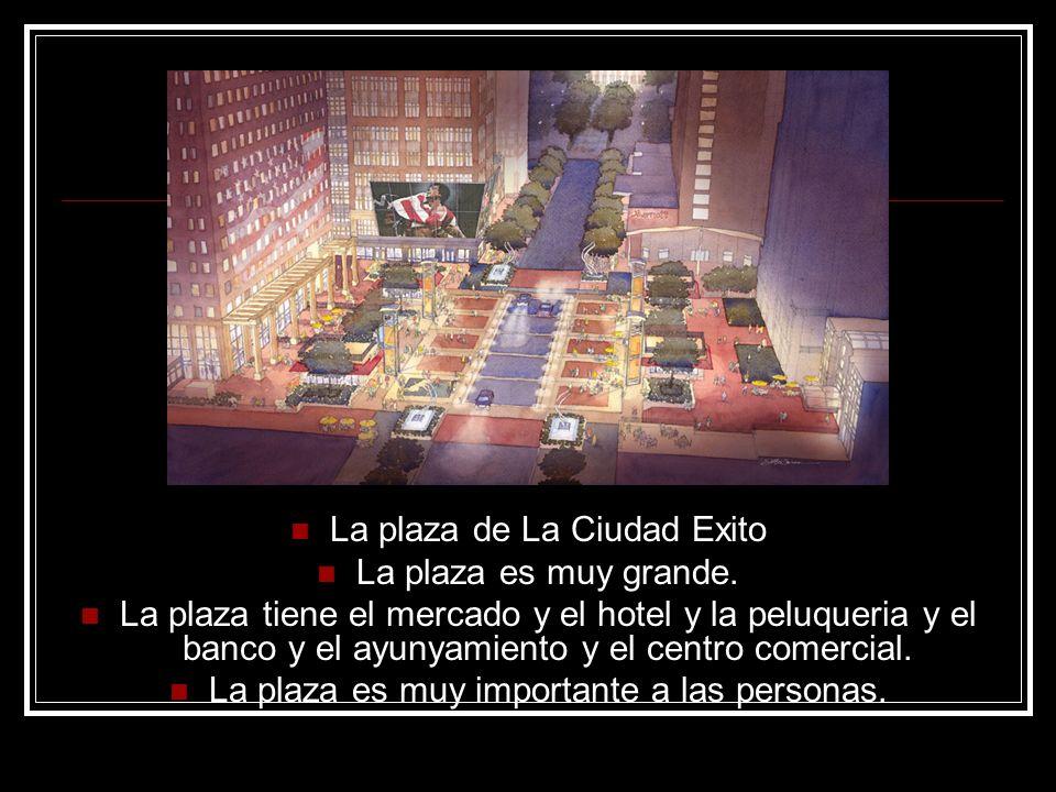 La plaza de La Ciudad Exito La plaza es muy grande.