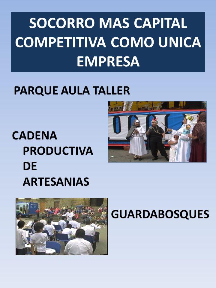 PARQUE AULA TALLER SOCORRO MAS CAPITAL COMPETITIVA COMO UNICA EMPRESA GUARDABOSQUES CADENA PRODUCTIVA DE ARTESANIAS