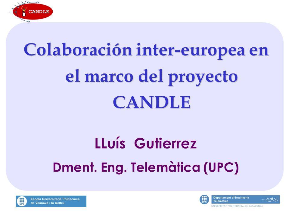 Colaboración inter-europea en el marco del proyecto CANDLE LLuís Gutierrez Dment.