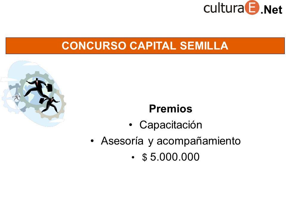 .Net CONCURSO CAPITAL SEMILLA Premios Capacitación Asesoría y acompañamiento $ 5.000.000