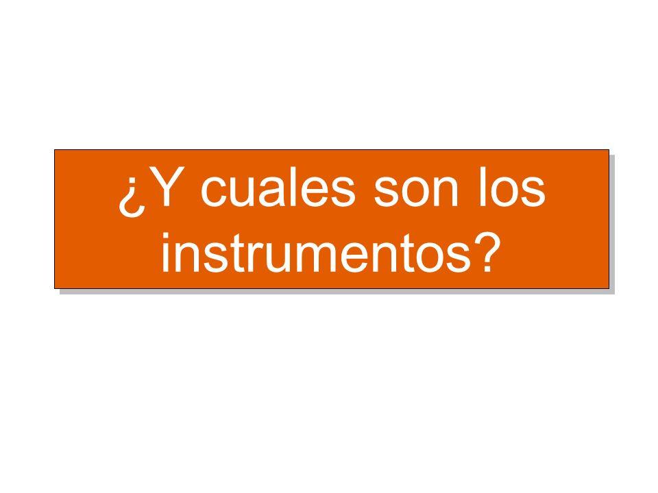 ¿Y cuales son los instrumentos