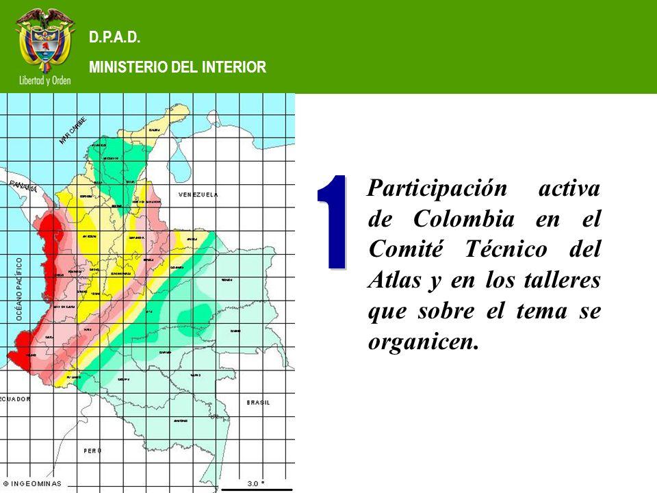 D.P.A.D.MINISTERIO DEL INTERIOR Planes Barriales para Prevención y Atención de Desastres.