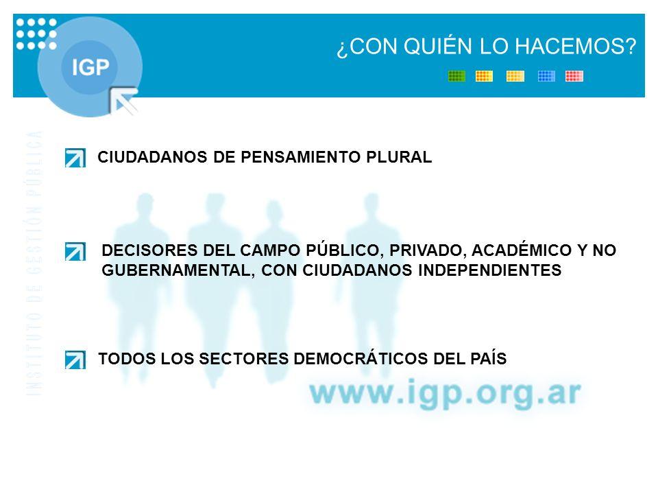 CIUDADANOS DE PENSAMIENTO PLURAL DECISORES DEL CAMPO PÚBLICO, PRIVADO, ACADÉMICO Y NO GUBERNAMENTAL, CON CIUDADANOS INDEPENDIENTES TODOS LOS SECTORES DEMOCRÁTICOS DEL PAÍS