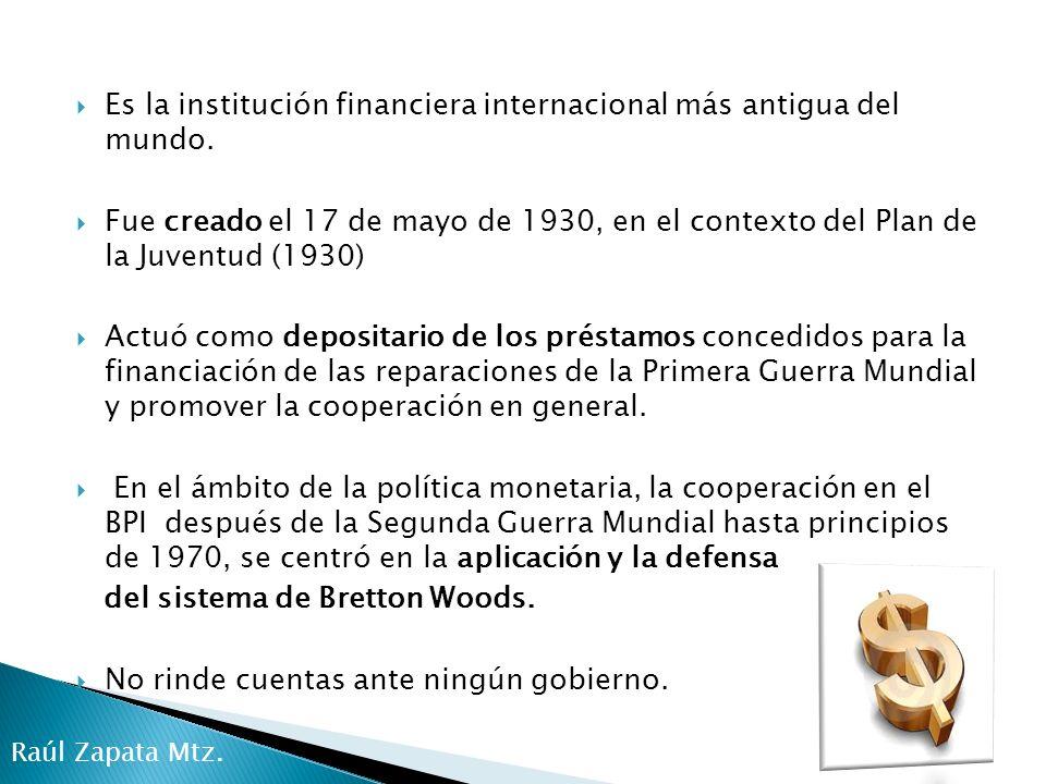 A raíz de la crisis del petróleo y de la deuda internacional, de 1970 a 1980 su atención fue centrada en la gestión transfronteriza de los flujos de capital.