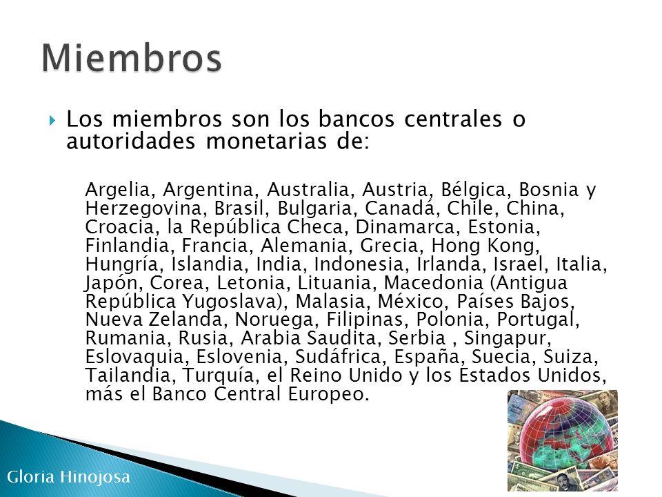 El capital del BPI está compuesto por acciones pertenecientes a diversos bancos centrales.