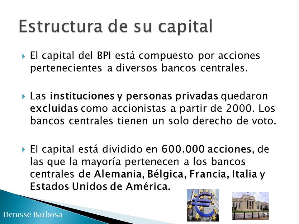 Servicios bancarios para los bancos centrales.