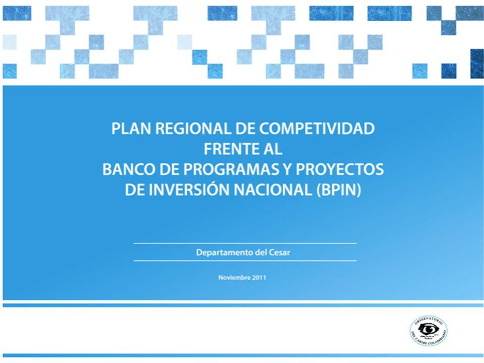 Contenido 1.Banco de Programas y Proyectos de Inversión Nacional (BPIN).