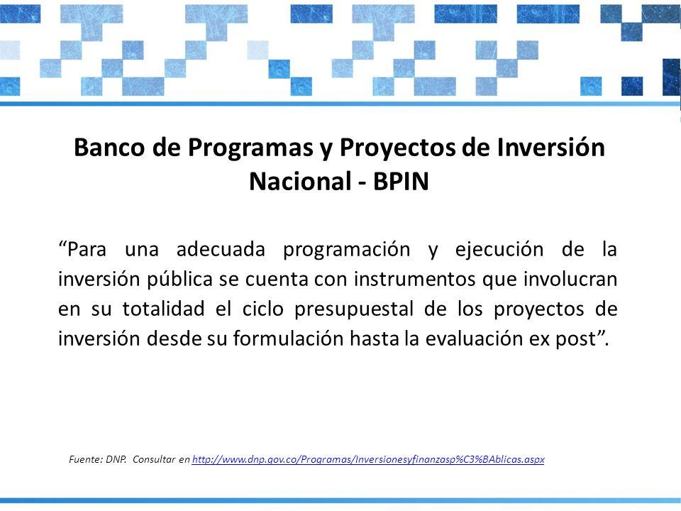 Para una adecuada programación y ejecución de la inversión pública se cuenta con instrumentos que involucran en su totalidad el ciclo presupuestal de