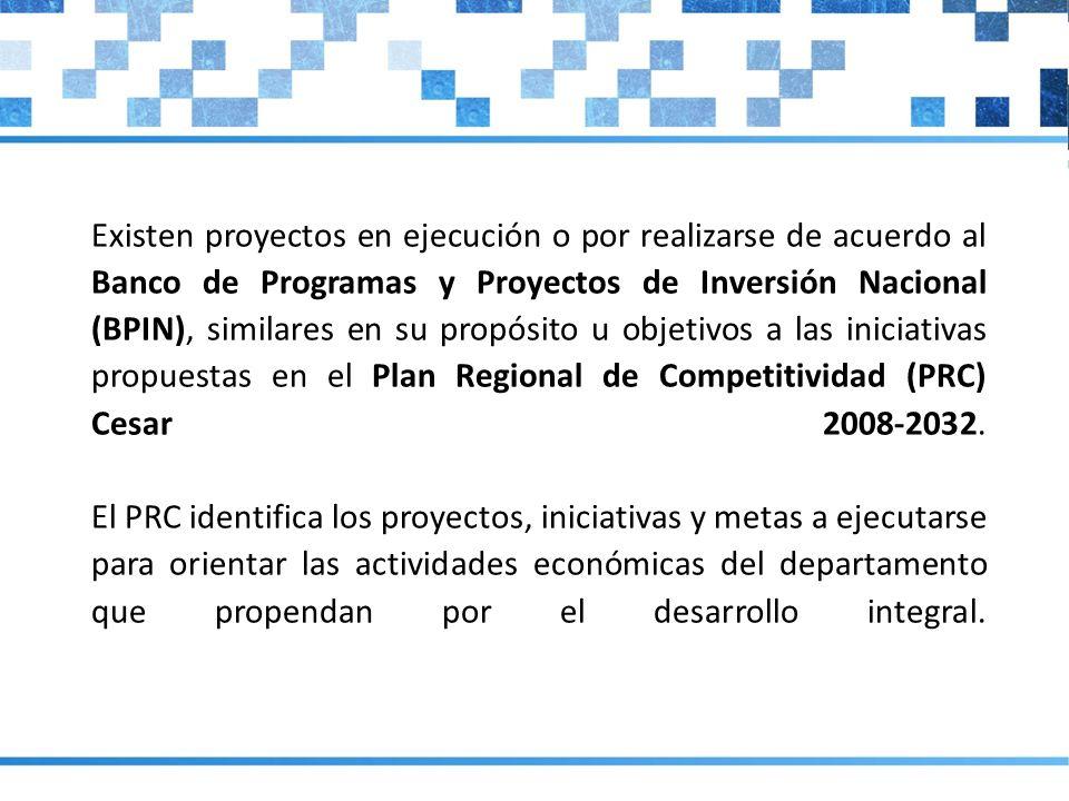 El PRC de Cesar propone 61 iniciativas estructuradas en cinco objetivos estratégicos (ver lista de proyectos del PRC).