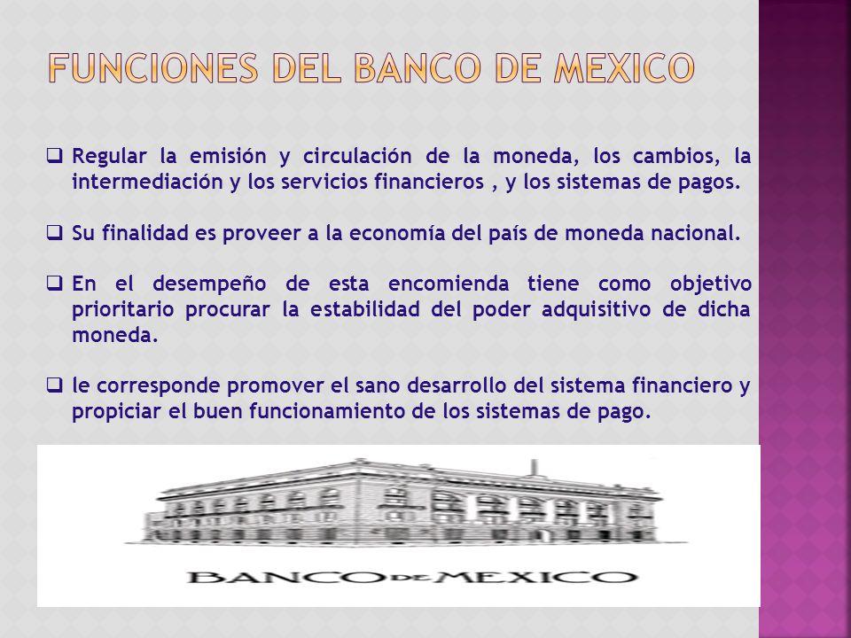 Regular la emisión y circulación de la moneda, los cambios, la intermediación y los servicios financieros, y los sistemas de pagos.