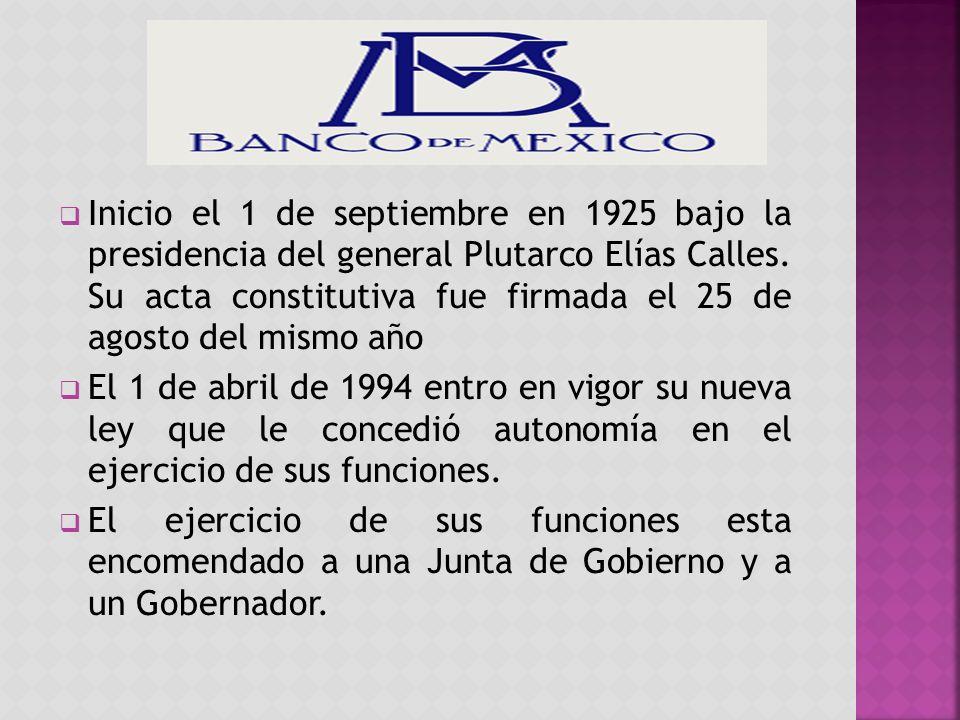 Inicio el 1 de septiembre en 1925 bajo la presidencia del general Plutarco Elías Calles.