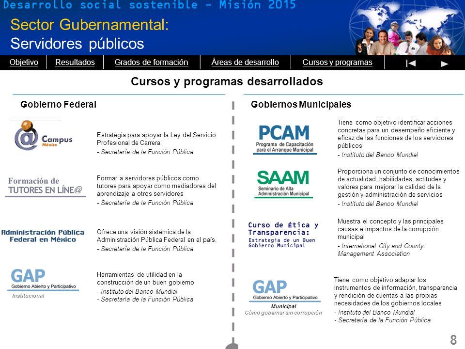 8 Sector Gubernamental: Servidores públicos Estrategia para apoyar la Ley del Servicio Profesional de Carrera - Secretaría de la Función Pública Forma