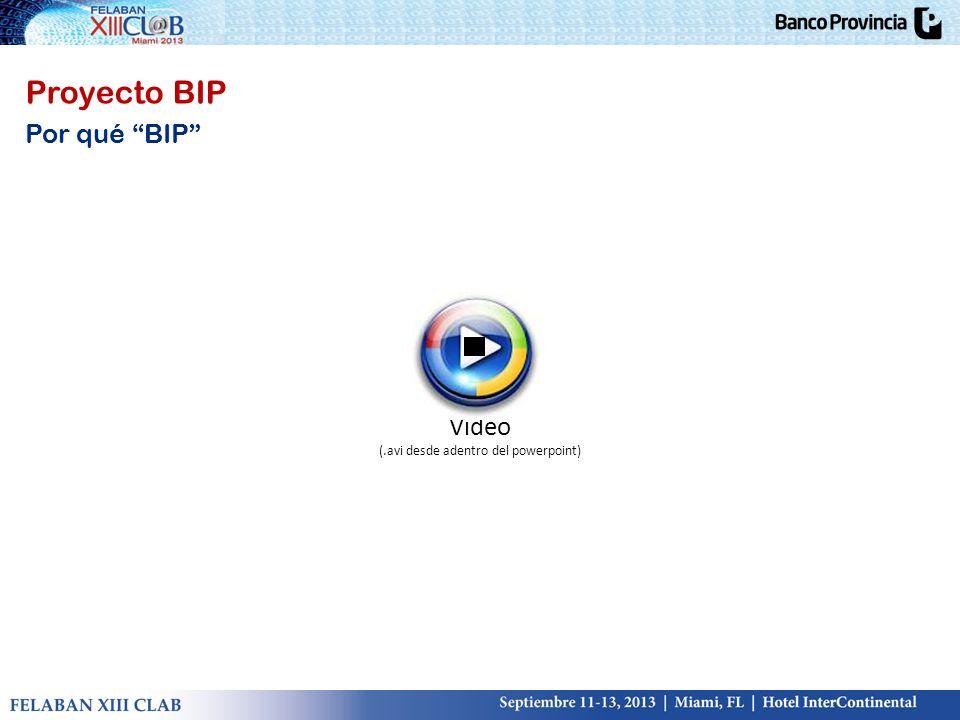 Proyecto BIP Por qué BIP Video (.avi desde adentro del powerpoint)