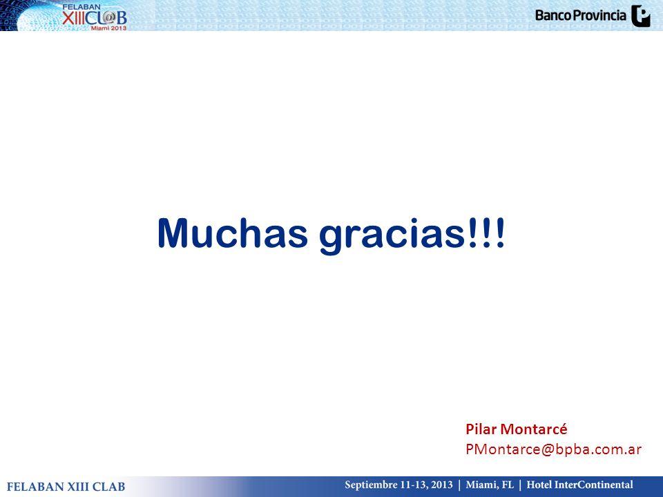 Muchas gracias!!! Pilar Montarcé PMontarce@bpba.com.ar