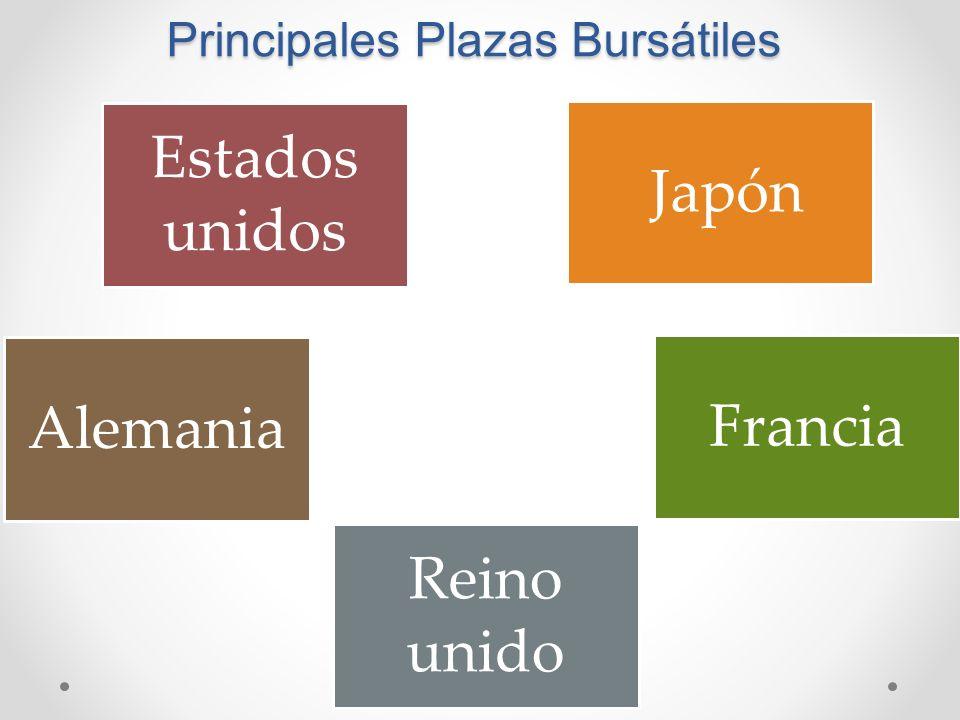 Principales Plazas Bursátiles Estados unidos Japón Alemania Francia Reino unido