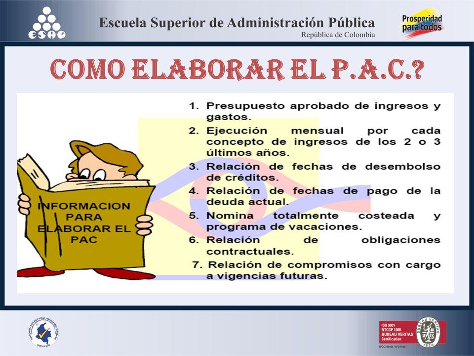 COMO ELABORAR EL P.A.C.?
